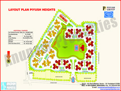 Layout Map of Piyush Heights Flats in Faridabad